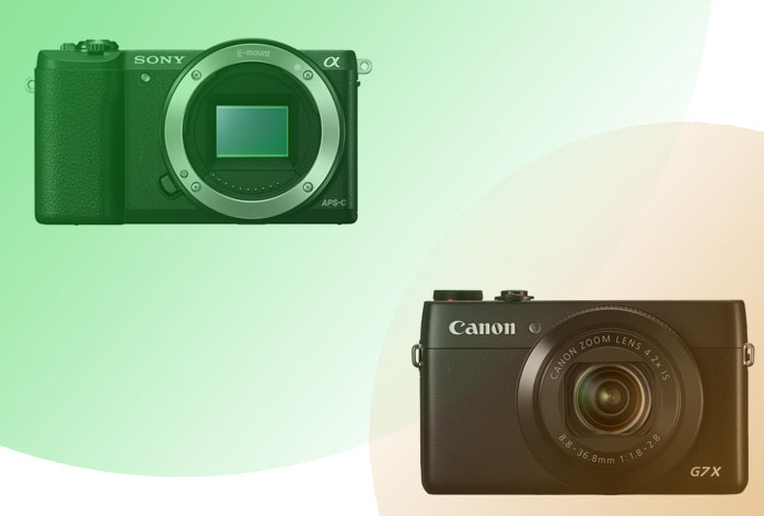 Sony a5100 vs Canon G7X