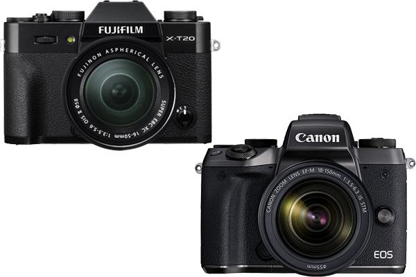 Fujifilm X T20 vs Canon EOS M5