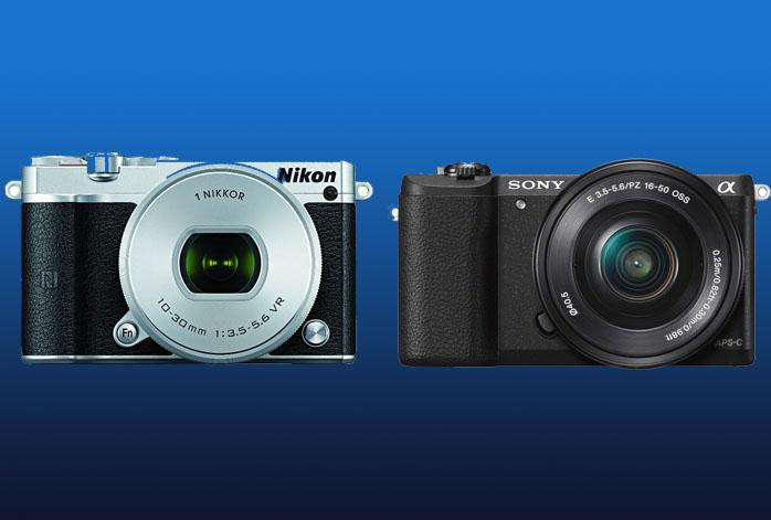 Nikon 1 J5 vs Sony a5100