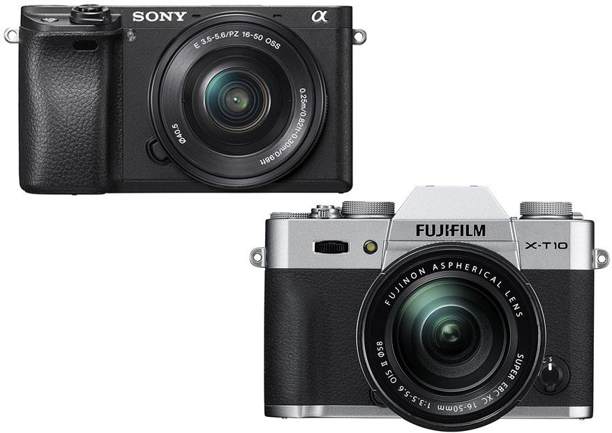 Sony Alpha a6300 vs Fujifilm X T10